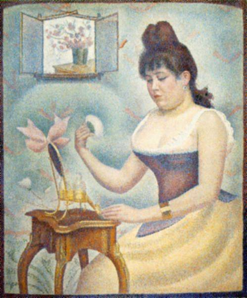 famous painting poudrage of Georges Pierre Seurat