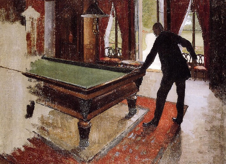 famous painting Billard (inachevé) of Gustave Caillebotte
