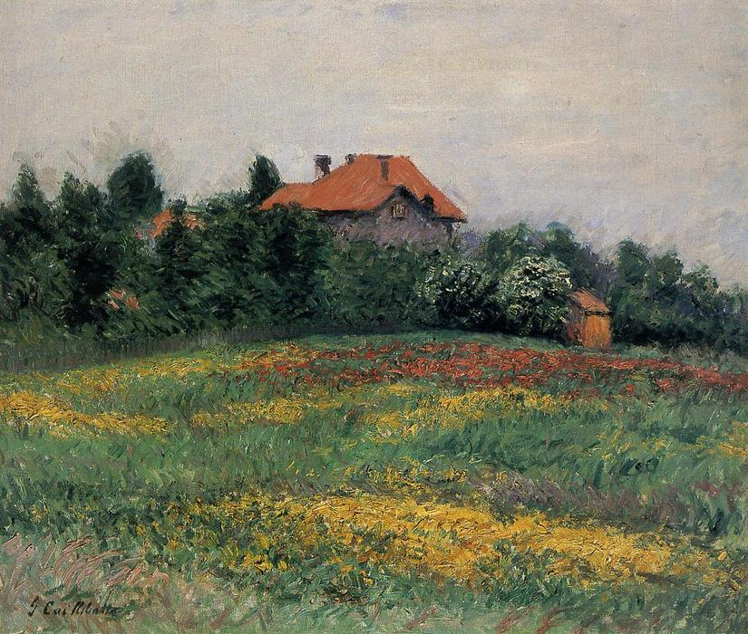 famous painting Norman Paysage of Gustave Caillebotte