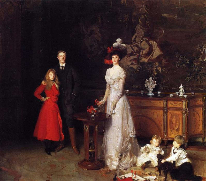 famous painting Monsieur george sitwell , lady ida sitwell et famille of John Singer Sargent