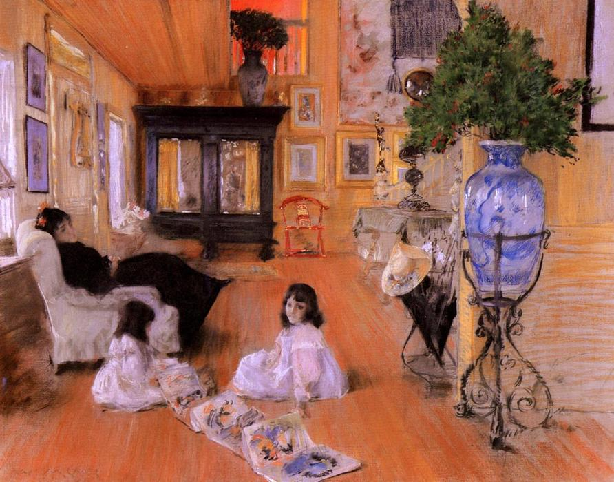 famous painting Salle à Shinnecock of William Merritt Chase