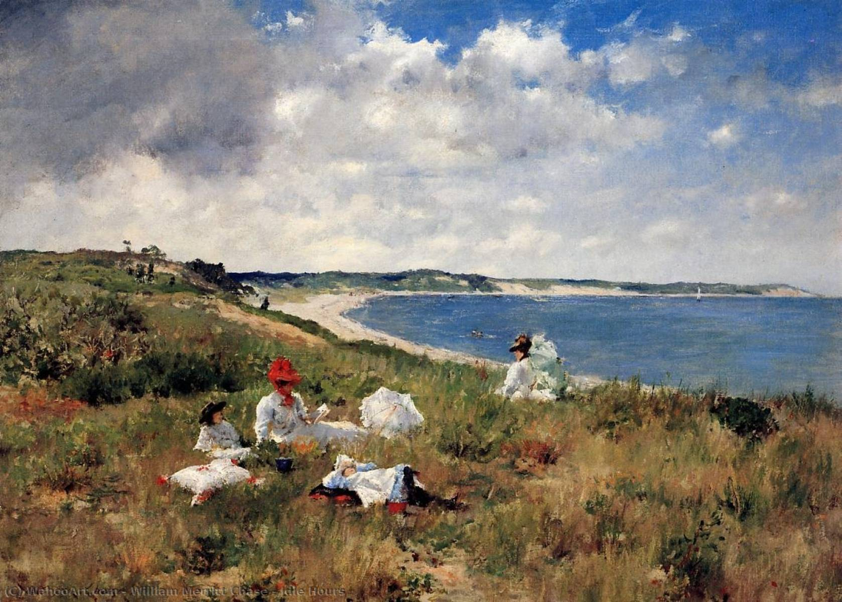 famous painting tourner au ralenti heures  of William Merritt Chase