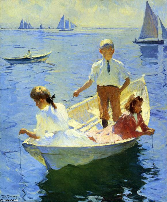 famous painting Calmez-Matin of Frank Weston Benson