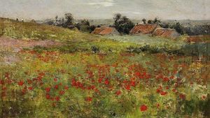 Willard Leroy Metcalf - Coquelicot champ Giverny
