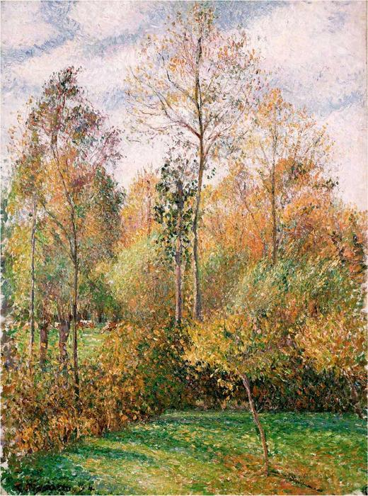 famous painting automne peupliers  of Camille Pissarro