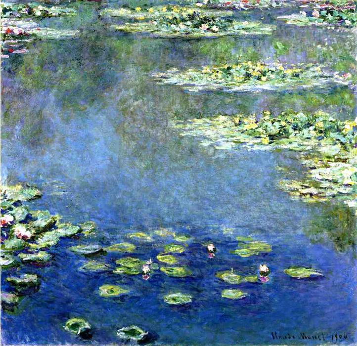 famous painting nénuphars of Claude Monet