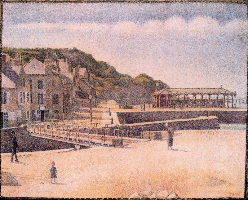 famous painting Port-en-Bessin of Georges Pierre Seurat