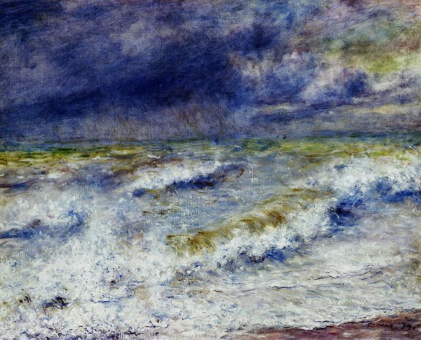 famous painting paysage marin of Pierre-Auguste Renoir