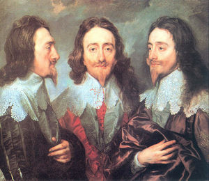 Anthony Van Dyck - charles i en trois positions