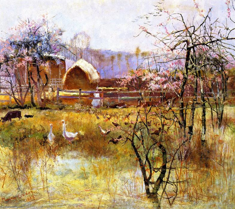 famous painting la ferme , Richmond , new south Wales of Charles Edward Conder
