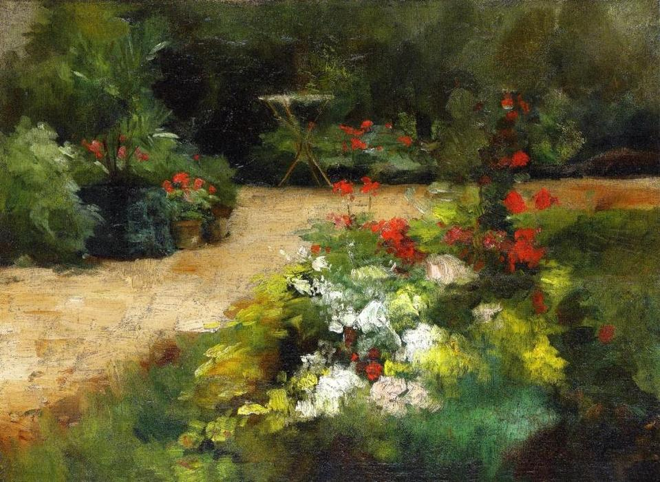 famous painting Jardin et of Gustave Caillebotte