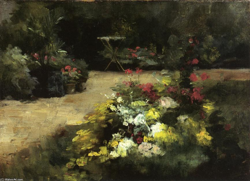 famous painting le jardin of Gustave Caillebotte