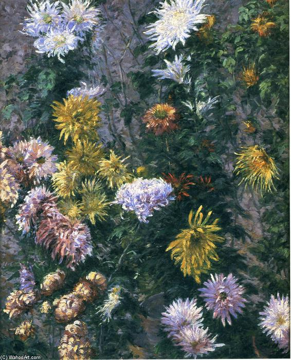 famous painting Blanc et Jaune chrysanthèmes of Gustave Caillebotte