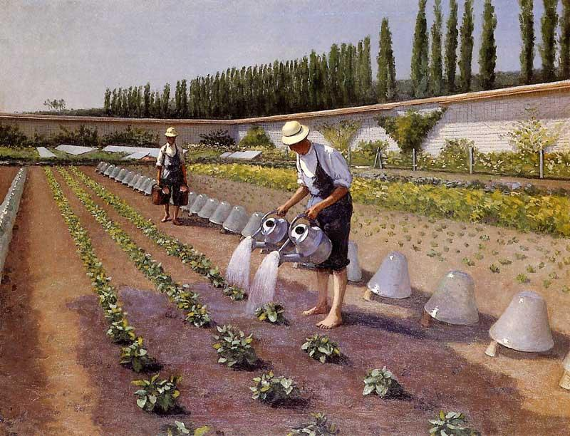 famous painting Les jardiniers of Gustave Caillebotte