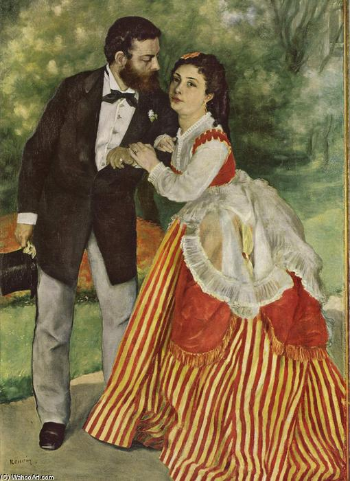 famous painting Portrait du couple Sisley of Pierre-Auguste Renoir