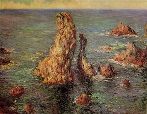 Claude Monet - Pyramides de Port-Coton