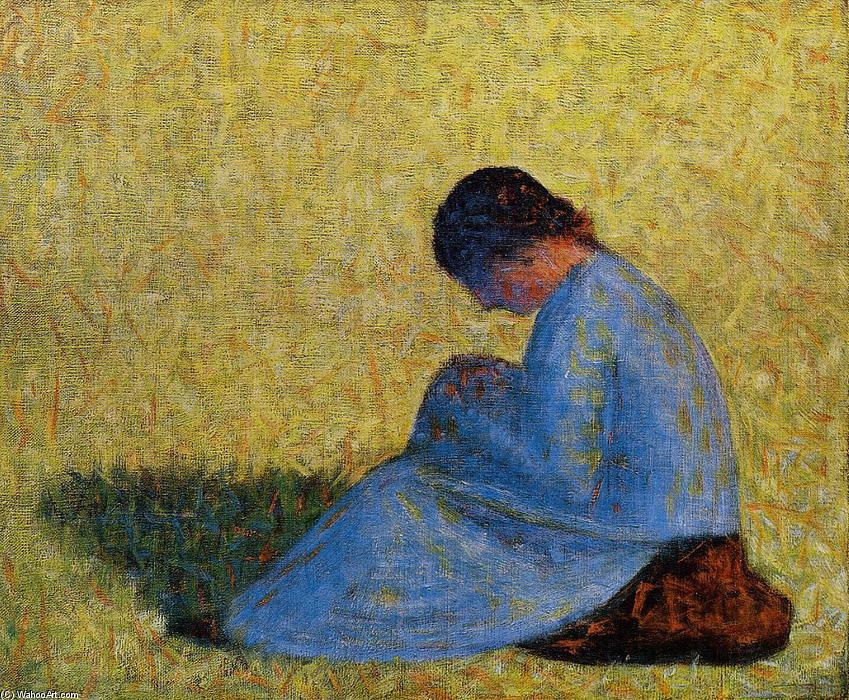 famous painting Femme assise of Georges Pierre Seurat