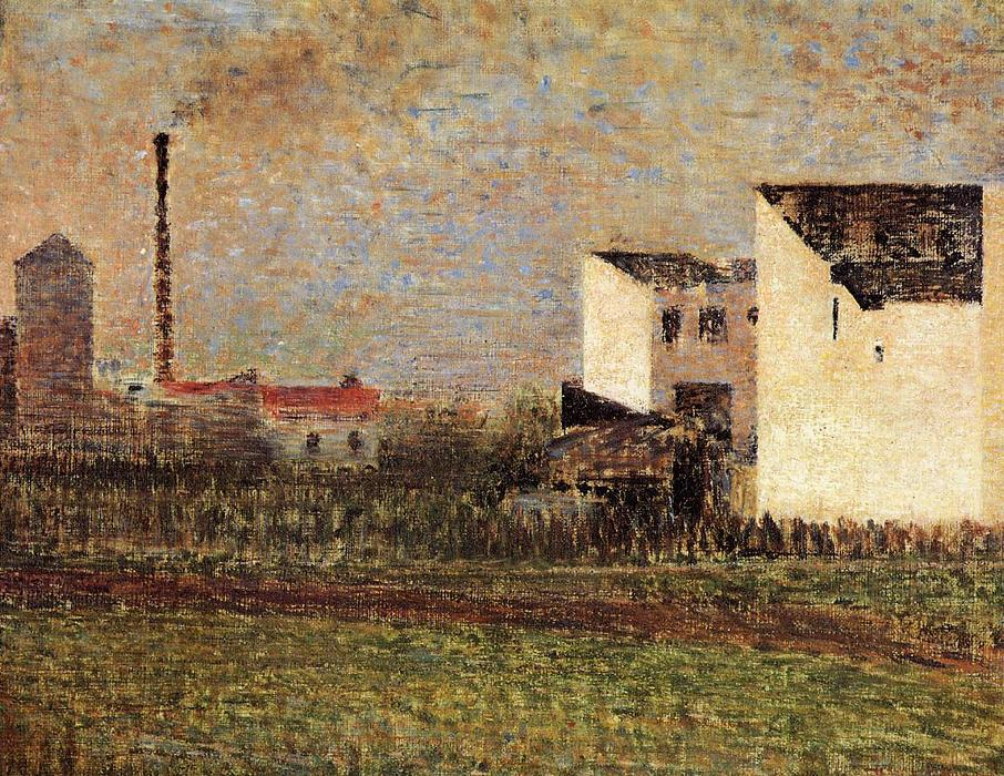 famous painting Banlieue of Georges Pierre Seurat