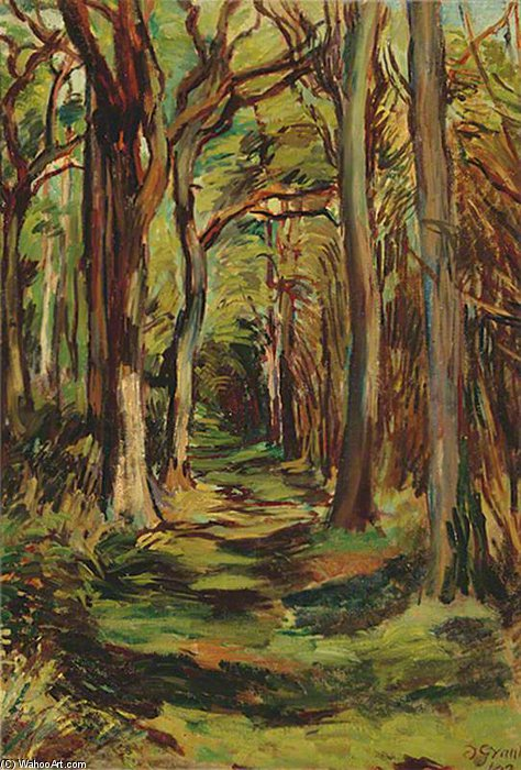 famous painting le glade , Firle Parc , east sussex of Duncan Grant