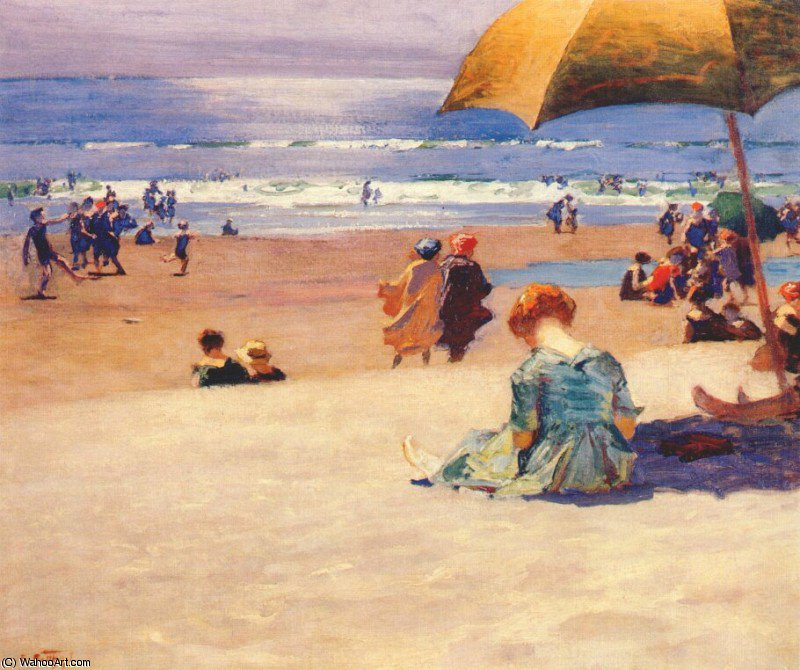 famous painting hourtide of Edward Henry Potthast