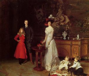 John Singer Sargent - Monsieur george sitwell lady ida sitwell et famille
