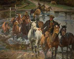 Alfred James Munnings - le gué